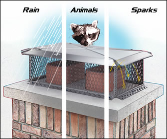 Rain, Animals, Sparks, Protect your Chimney with a Gelco Chimney Top
