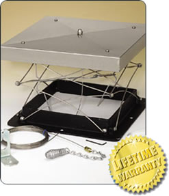 Lock-Top Top Sealing Fireplace Damper